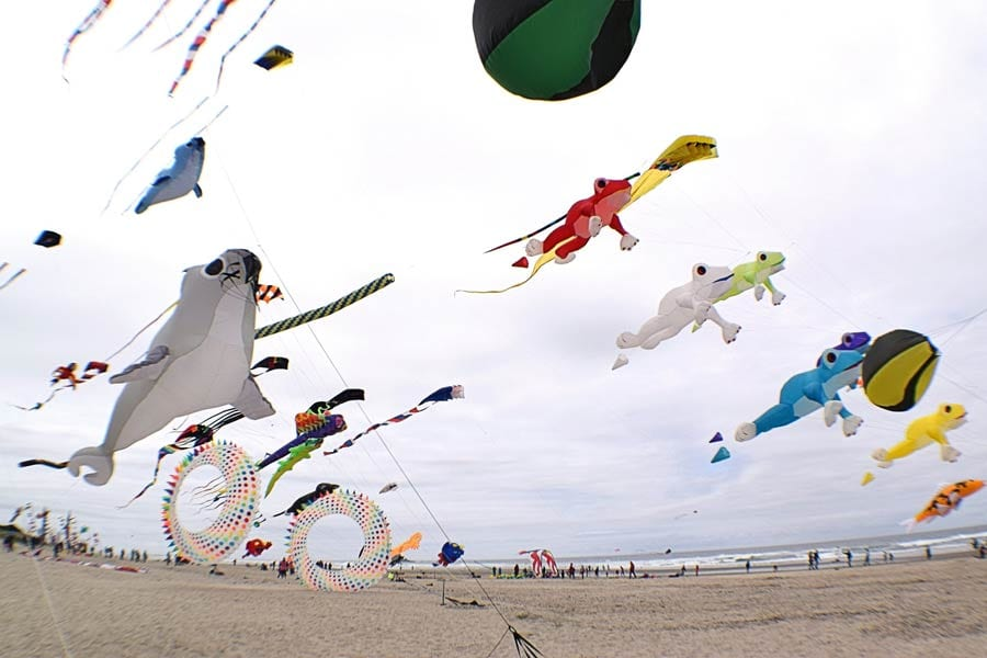 Kite flying, Rockaway Beach, Oregon